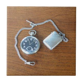 Vintage Swiss Pocket Watch Tile
