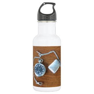 Vintage Swiss Pocket Watch Water Bottle