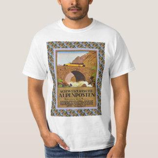 Vintage Swiss Railway Poster Alpenposten T-Shirt