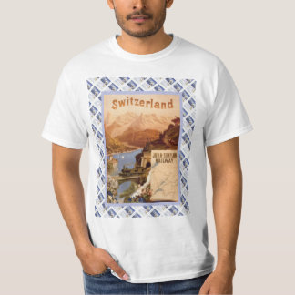 Vintage Swiss Railway Poster Jura Simplon line T-Shirt