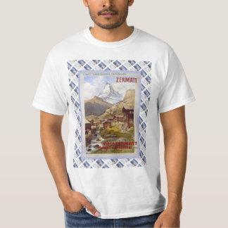 Vintage Swiss Railway Poster Zermatt, Matterhorn Tee Shirt
