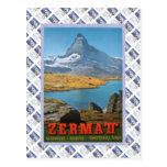 Vintage Swiss Railway Zermatt Postcard