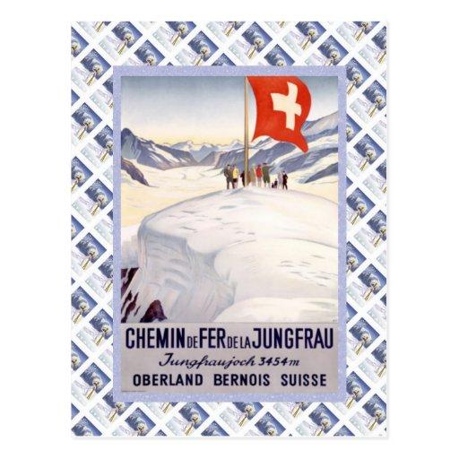 Vintage Swiss Raulway Jungfrau Jungfraujoch Postcards