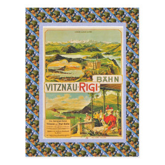 Vintage Swiss Raulway Vitznau Rigi Bahn Postcard