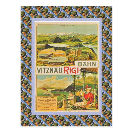 Vintage Swiss Raulway Vitznau Rigi Bahn Postcards