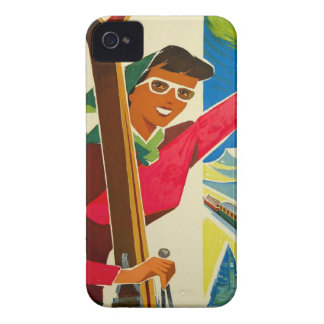 Vintage Swiss Ski, Jungfrau iPhone 4 Case
