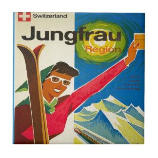 Vintage Swiss Ski Jungfrau Tiles