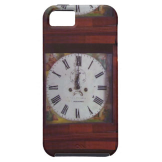Vintage Swiss Wall Clock elegant design tan border Cover For iPhone 5/5S