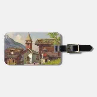 Vintage Switzerland, A village in the Valais Bag Tag