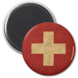 Vintage Switzerland Flag Refrigerator Magnet