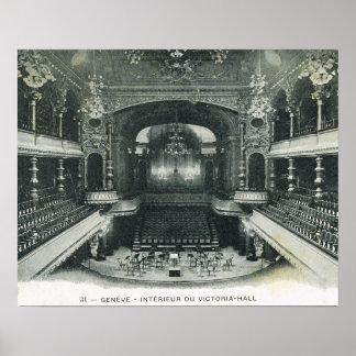 Vintage Switzerland, Geneva 1910, Victoria Hall Poster