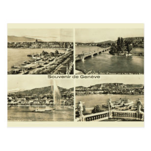 Lake Geneva Switzerland Vintage Postcards Zazzle
