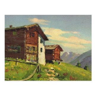 Vintage Switzerland   Hochweg, Saas Fee Postcard