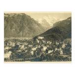 Vintage Switzerland, Interlaken and Jungfrau Post Card