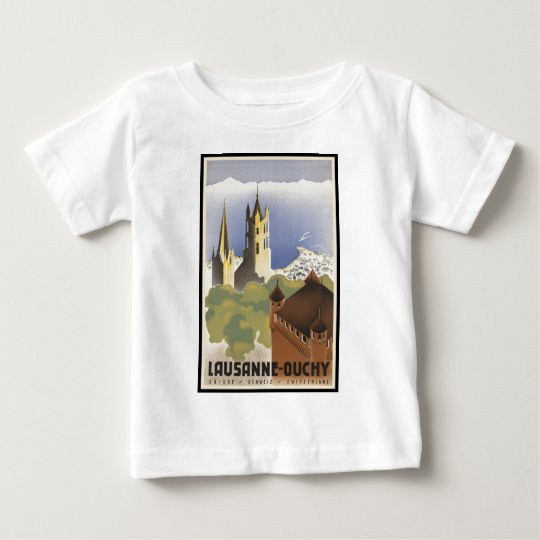 Vintage Switzerland Lausanne-Ouchy Baby T-Shirt