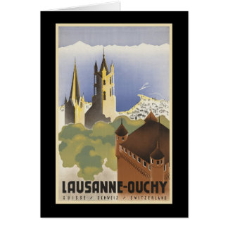 Vintage Switzerland Lausanne-Ouchy Card