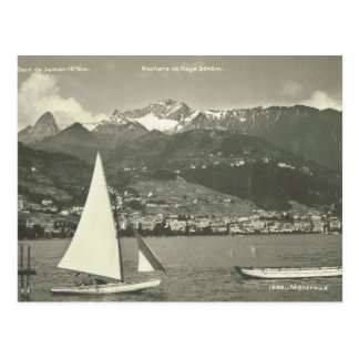 Vintage Switzerland, Montreux, Lake Geneva Postcard