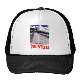 Vintage Switzerland Roads Mesh Hats