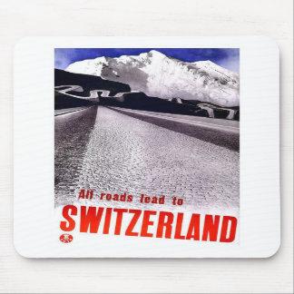 Vintage Switzerland Roads Mousepads