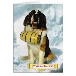 Vintage Switzerland, St Bernard dog, Greeting Card