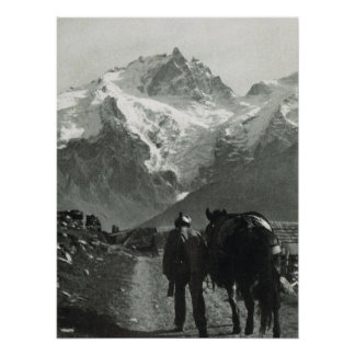 Vintage Switzerland, track on the Jungfrau Posters