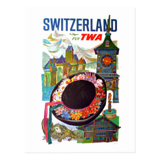 Vintage Switzerland Travel Postcard