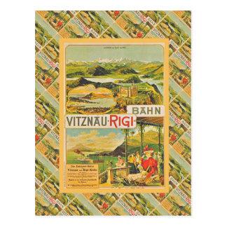 Vintage Switzerland, Vitznau Rigi Bahn Postcard