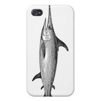 Vintage swordfish iphone4 case iPhone 4 case