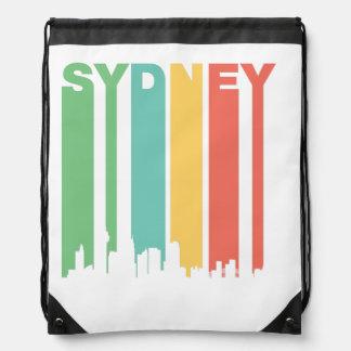 Vintage Sydney Cityscape Drawstring Backpack
