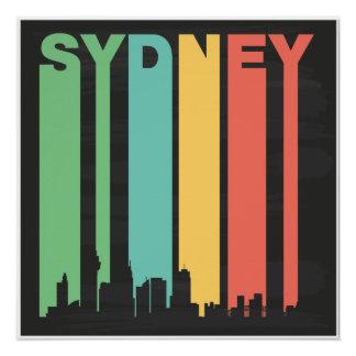 Vintage Sydney Cityscape Poster