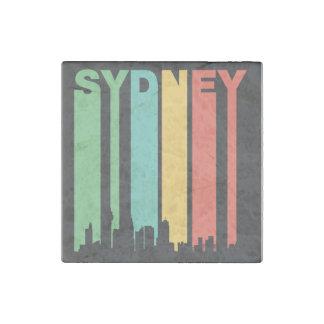 Vintage Sydney Cityscape Stone Magnet