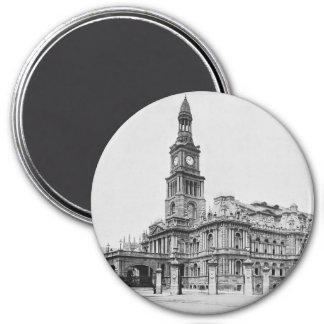 Vintage Sydney Town Hall Photograph c1898 Magnet