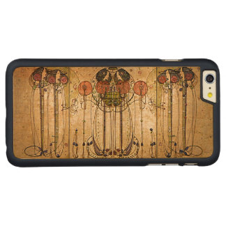 Vintage Symbolic Art On Wood Carved Maple iPhone 6 Plus Slim Case