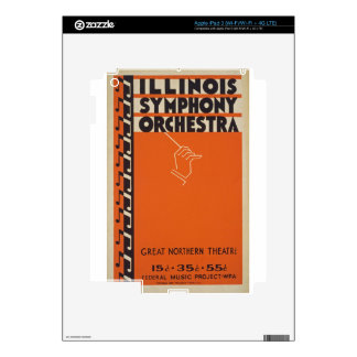 Vintage Symphony Orchestra Decals For iPad 3