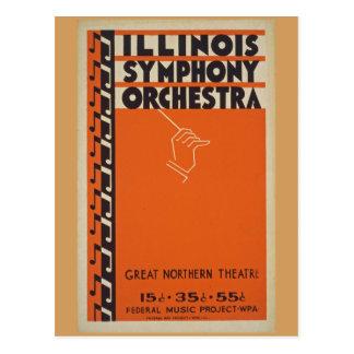 Vintage Symphony Orchestra Postcard