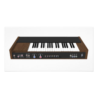 Vintage Synthesizer: 3D Model: Photo Card