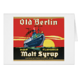 Vintage Syrup Food Product Label Stationery Note Card