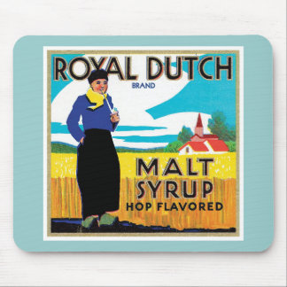 Vintage Syrup Food Product Label Mouse Pad