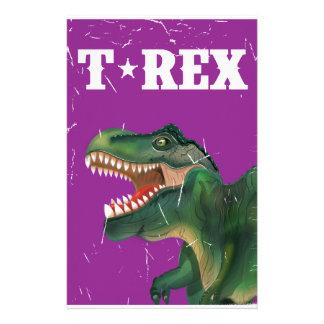 Vintage t-rex cartoon vintage cartoon poster stationery