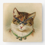 Vintage Tabby Cat Print Wallclock