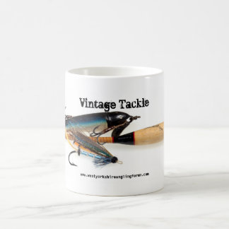 Vintage Tackle Mug floats and lures