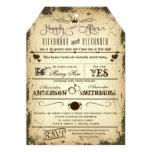 Vintage Tag Die-Cut Storyline Wedding Invite