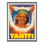 Vintage Tahití Postal