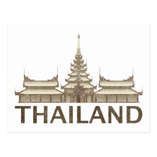 Vintage Tailandia Tarjetas Postales