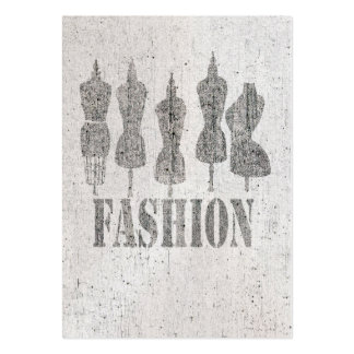 Vintage Tailor Dress Forms Large Business Cards (Pack Of 100)