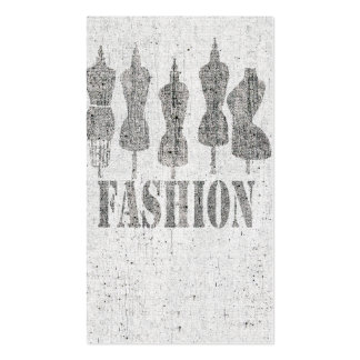 Vintage Tailor Dress Forms Double-Sided Standard Business Cards (Pack Of 100)