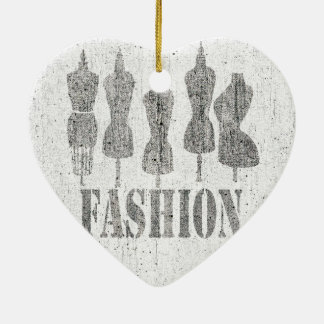 Vintage Tailor Dress Forms Ceramic Ornament