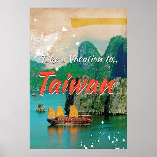 Vintage Taiwan Travel Poster
