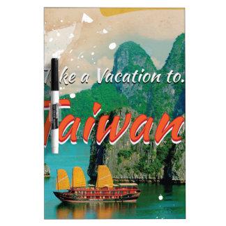 Vintage Taiwan Travel Poster Dry-Erase Board