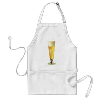 Vintage Tall Frosty Draft Beer, Alcohol Beverage Adult Apron